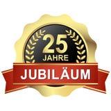 knoop 25 jaar jubileum( in german) royalty-vrije illustratie