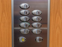 Knoop in lift dichte omhooggaand Royalty-vrije Stock Afbeeldingen