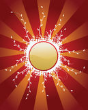 Knoop met populaire elementen Royalty-vrije Stock Foto