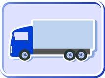 Knoop met vrachtwagensilhouet Stock Foto's