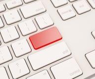Knoop op computertoetsenbord Royalty-vrije Stock Afbeelding