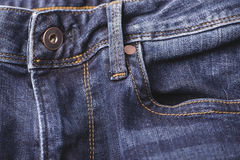 Knoop op een jeansvlieg vector illustratie
