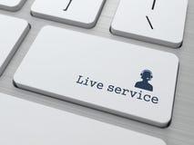 Knoop op Toetsenbord: Leef de Dienst Royalty-vrije Stock Afbeelding