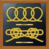 Knoop, overzeese knoop, mariene geïsoleerde knoop, Royalty-vrije Stock Foto's