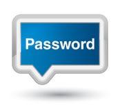 Knoop van de wachtwoord de eerste blauwe banner Stock Afbeeldingen