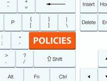Knoop van het beleids de oranje toetsenbord Stock Afbeeldingen