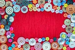 Knoop voor kledingstuk Stock Foto's