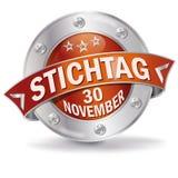 Knoopuiterste termijn 30 November Stock Fotografie
