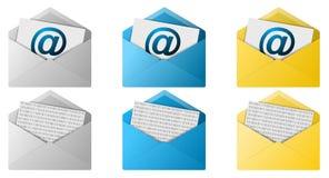Knopen de e-mail van de Envelop Royalty-vrije Stock Afbeeldingen