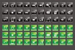 Knopen en pictogrammen Stock Foto's