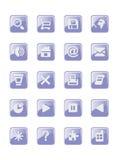 Knopen met pictogrammen Stock Fotografie