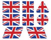Knopen met Union Jack-vlag Royalty-vrije Stock Afbeeldingen