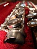 Knopen op de fluit Stock Foto's