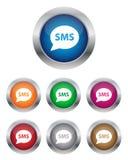 Knopen SMS Royalty-vrije Stock Fotografie