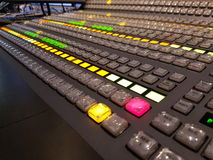 Knopen in televisiestudio Stock Fotografie
