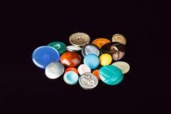 Knopen van verschillende kleuren Stock Foto's