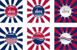 Knopen voor Amerikaanse verkiezingen vector illustratie