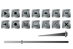 Knopen voor een speler Royalty-vrije Stock Afbeeldingen