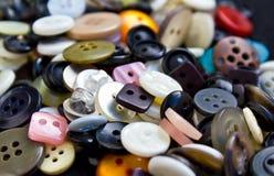 Knopen voor kleding Royalty-vrije Stock Foto's