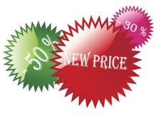 Knopen voor verkoop Royalty-vrije Stock Foto