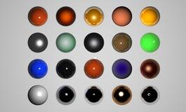 Knopen voor Web vector illustratie