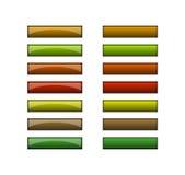 Knopen voor Web - aardekleuren Stock Afbeeldingen