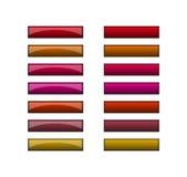 Knopen voor Web - rode schaduwen Royalty-vrije Stock Foto