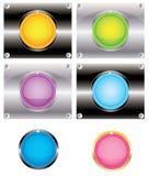 Knopen voor Web (vector) Stock Afbeeldingen
