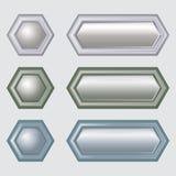 Knopen voor Webontwerp stock illustratie