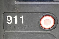 Knopf 911 Stockfotografie