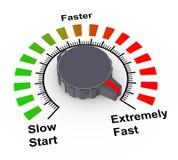 Knopf 3d - schnell, schneller und am schnellsten Lizenzfreies Stockbild