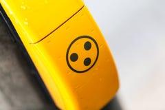 Knopf auf einer Ampel für Blinde Lizenzfreies Stockfoto