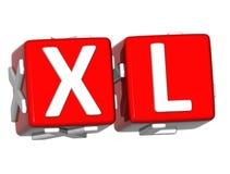 Knopf 3D XL klicken hier Block-Text Stockbilder