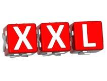 Knopf 3D XXL klicken hier Block-Text Lizenzfreie Stockfotografie