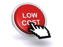 Knopf der niedrigen Kosten Lizenzfreie Stockbilder