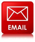 Knopf des E-Mail-roten Quadrats Lizenzfreie Stockfotos