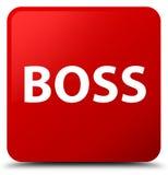 Knopf des roten Quadrats des Chefs Stockfotos