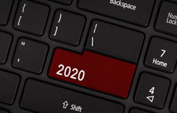 Knopf des Textes 2020 Lizenzfreie Stockbilder
