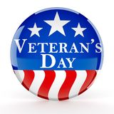 Knopf des Veterans Tages lizenzfreie stockfotos