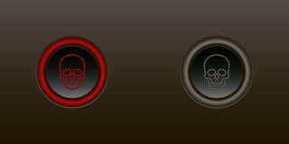 Knopf ermöglichen Sperrung stock abbildung