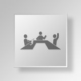 Knopf-Ikonen-Konzept der Sitzungs-3D Lizenzfreie Stockfotos