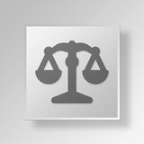 Knopf-Ikonen-Konzept des Gesetz3d lizenzfreie abbildung