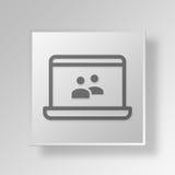 Knopf-Ikonen-Konzept Gruppe des Laptops 3D Lizenzfreie Stockbilder