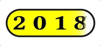 Knopf-Ikonenart Illustration des guten Rutsch ins Neue Jahr 2018 abstrakte mit 2018 Abschlussinstallation Lizenzfreies Stockfoto