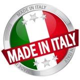 Knopf mit der Fahne hergestellt in Italien Stockbild