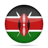 Knopf mit Flagge von Kenia Lizenzfreie Stockfotografie