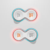 Knopf-Schalter mit Hintergrundbeleuchtung Auf und weg ablage Lizenzfreies Stockfoto