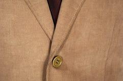 Knopf und Beschaffenheit einer Jacke Stockfoto
