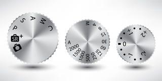 Knopfaluminiumsteuerung für Kamerasatz stock abbildung