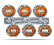 Knopfikonen für Medien Lizenzfreie Stockfotos